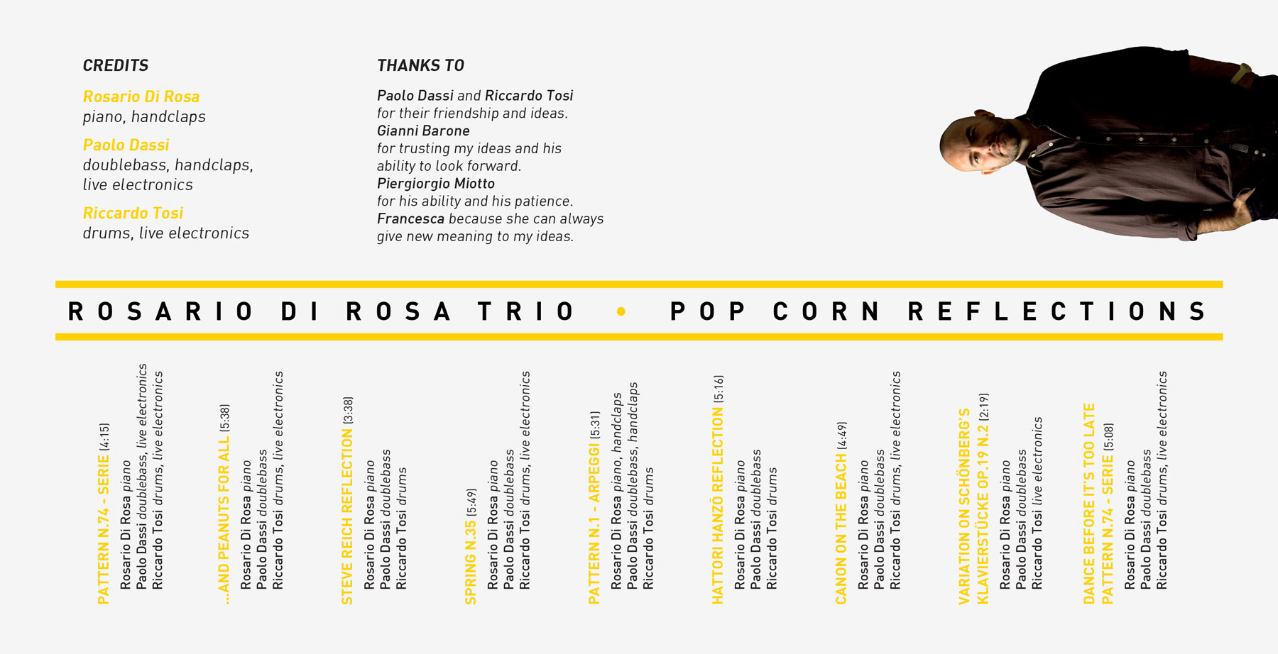 Booklet Rosario Di Rosa Trio