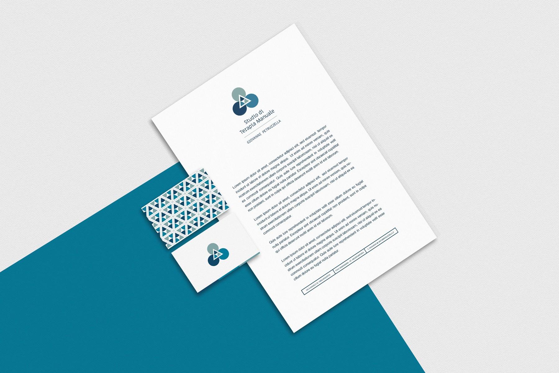 Grafica e progetto di identità per lo per tudio Terapia Manuale Petruzzella Molfetta