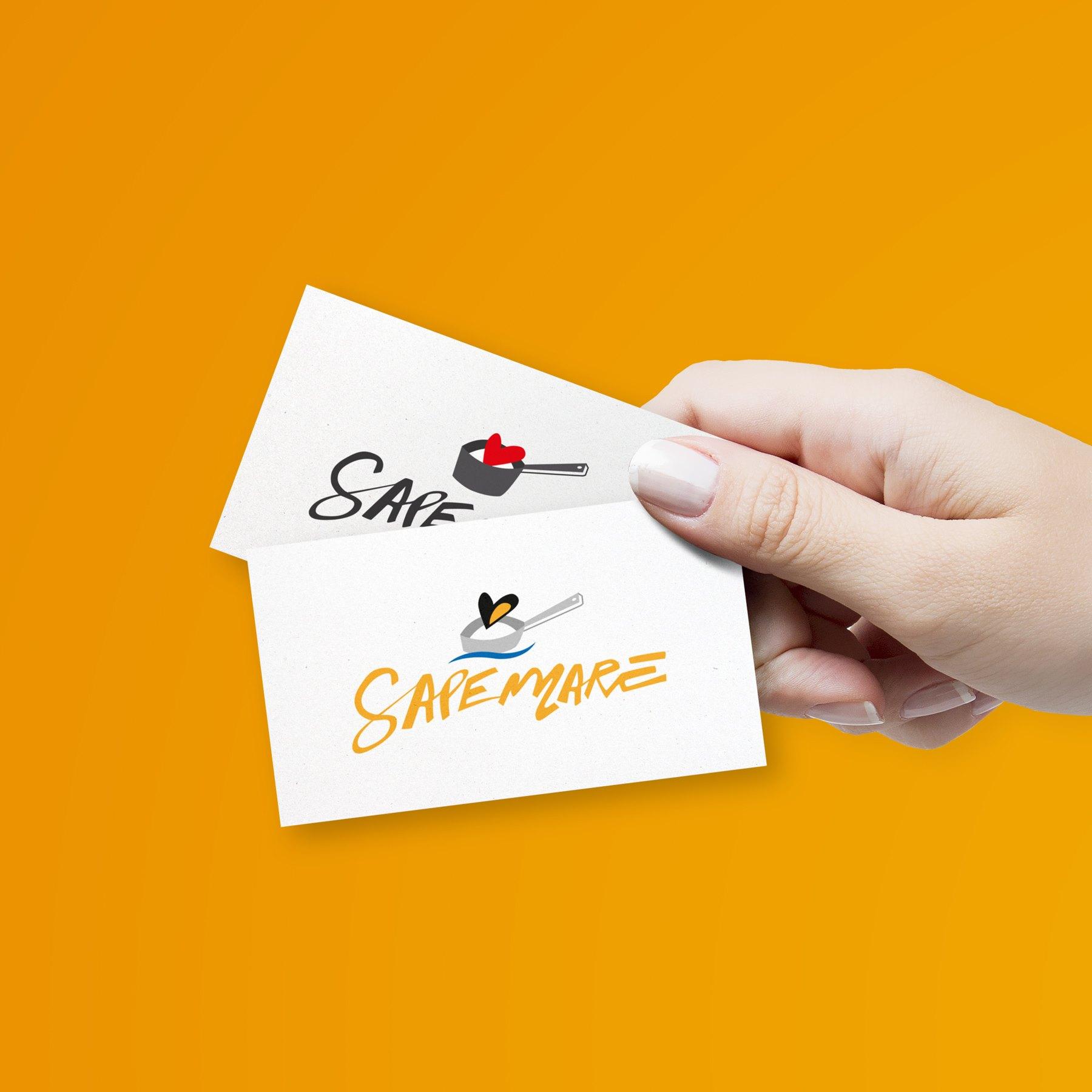 il logo per il locale estivo del Sapemore, il Sapemare