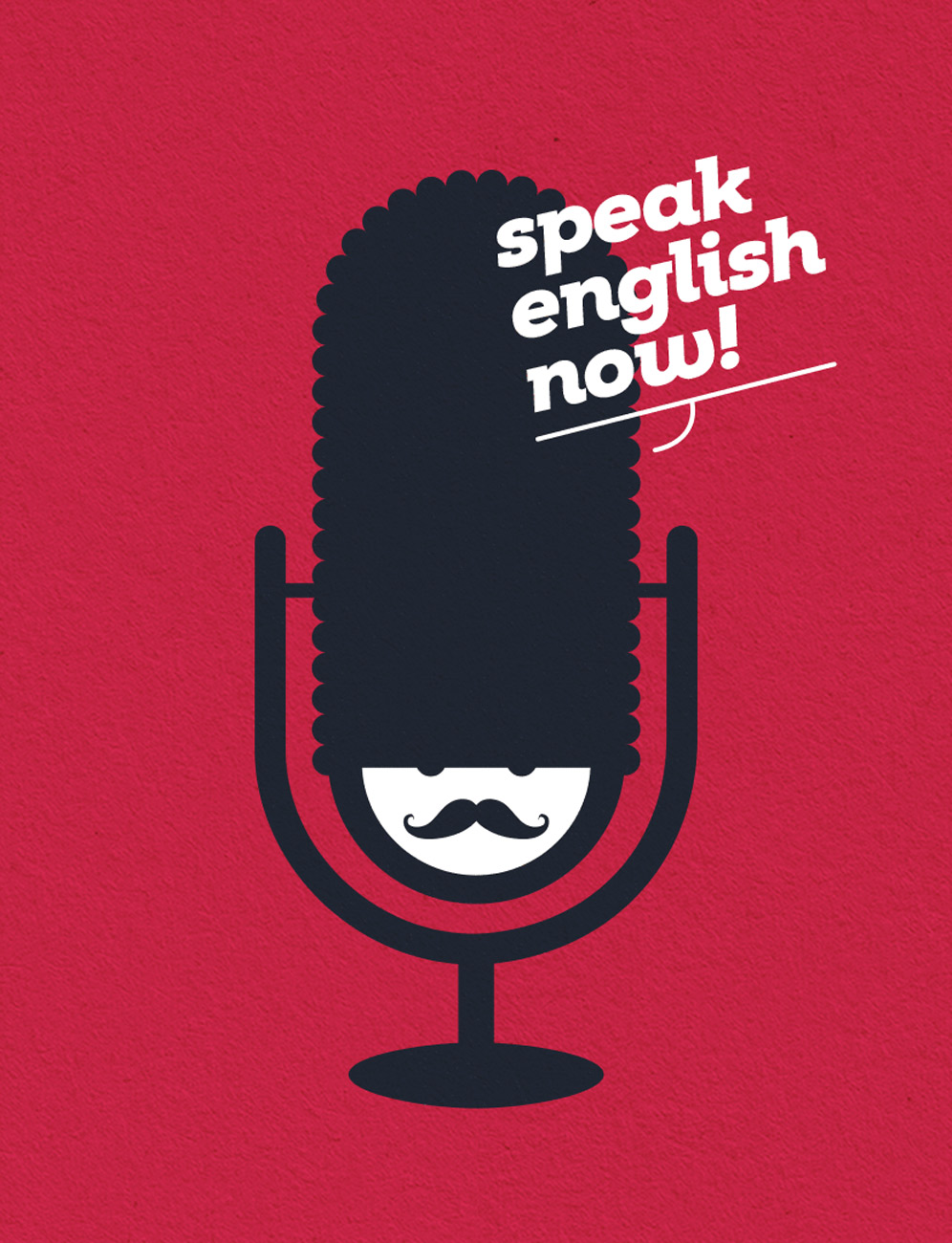 Illustrazione per la brand identity scuola di inglese Speak School Molfetta