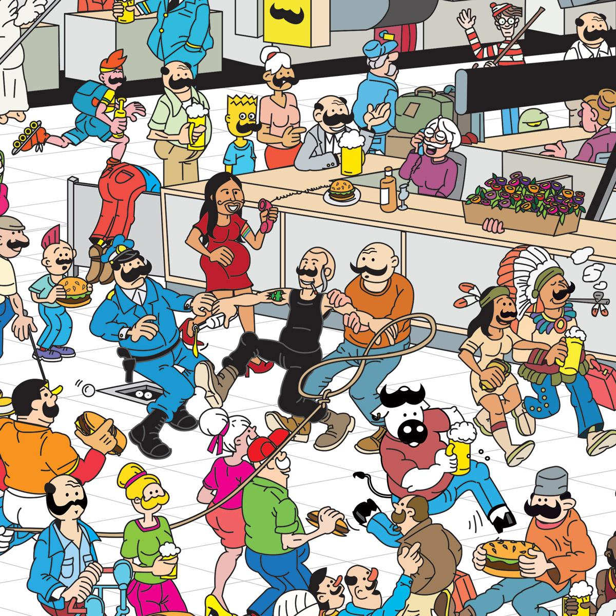 Illustrazione per Supersantos Beershop Molfetta